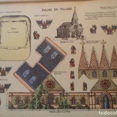 Coleccionismo Recortables: PELLERINEGLISE DE VILLAGE-GRANDES CONSTRUCCIONES PELLERIN-EPINAL 39X50 CM. Lote 275232808