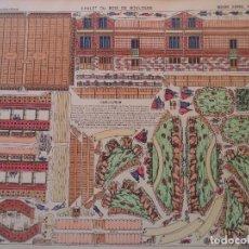 Coleccionismo Recortables: CHALET DU BOIS DE BOULOGNE-GRANDES CONSTRUCCIONES PELLERIN-EPINAL 40 X 50 CM. Lote 275234193