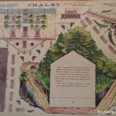 Coleccionismo Recortables: CHALET GRANDES CONSTRUCCIONES-PELLERIN-EPINAL 40X50 CM. Lote 275234873
