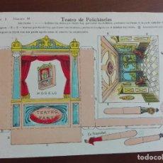 Coleccionismo Recortables: JMFC LAMINA RECORTABLE - LA TIJERA - TEATRO DE POLICHINELAS - SERIE 5 - NUMERO 68- AÑOS 40. Lote 275901983