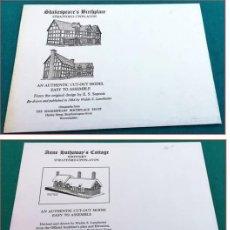 """Coleccionismo Recortables: 3 RECORTABLES """"SHAKESPEARE, LOS EDIFICIOS DE SU ENTORNO PRÓXIMO"""". Lote 275987363"""