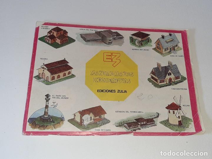 ANTIGUO LIBRO ALBUM MANUALIDADES RECREATIVAS RECORTABLES 35 LAMINAS EDITORIAL ZULIA AÑO 1981 (Coleccionismo - Recortables - Construcciones)