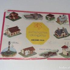 Coleccionismo Recortables: ANTIGUO LIBRO ALBUM MANUALIDADES RECREATIVAS RECORTABLES 35 LAMINAS EDITORIAL ZULIA AÑO 1981. Lote 278412618