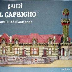 Coleccionismo Recortables: RECORTABLE VILLA - EL CAPRICHO - DE GAUDÍ. COMILLAS (CANTABRIA). ¡¡¡ OPORTUNIDAD !!! AÑO 1988. Lote 278528738