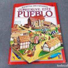 Coleccionismo Recortables: RECORTABLE CONSTRUYE ESTE PUEBLO. MAQUETAS RECORTABLES Nº 3. SUSAETA. Lote 279517433
