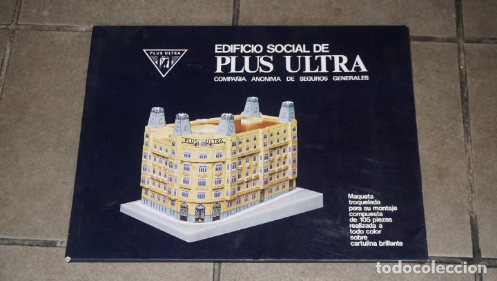 MAQUETA RECORTABLE DEL EDIFICIO SOCIAL DE PLUS ULTRA( MADRID) (Coleccionismo - Recortables - Construcciones)