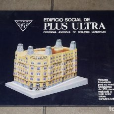 Coleccionismo Recortables: MAQUETA RECORTABLE DEL EDIFICIO SOCIAL DE PLUS ULTRA( MADRID). Lote 283464173
