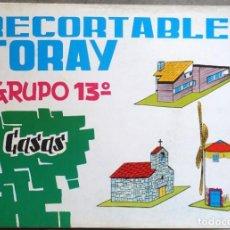 Coleccionismo Recortables: ANTIGUA COLECCIÓN DE 9 RECORTABLES DE CONSTRUCCIONES .. Lote 284533663