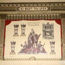 Coleccionismo Recortables: RECORTABLE DE PROSCENIO DE TEATRILLO ( DINAMARCA ) ALFRED JACOBSENS.. Lote 287800383