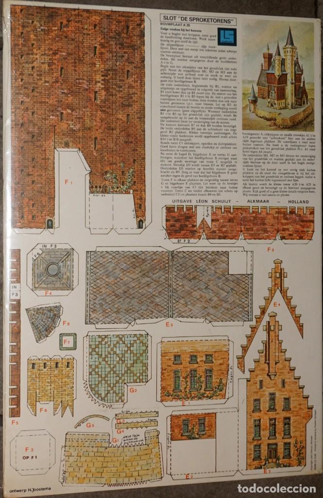 MAQUETA RECORTABLE : CASTILLO DE SPROKETORENS EN HOLANDA (Coleccionismo - Recortables - Construcciones)
