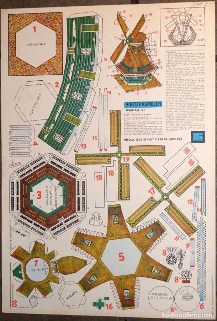 MAQUETA RECORTABLE : MOLINO ASERRADERO DE MADERA EN HOLANDA (Coleccionismo - Recortables - Construcciones)