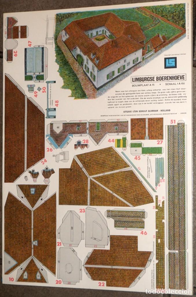 MAQUETA RECORTABLE : GRANJA DE LIMBURGO EN HOLANDA (Coleccionismo - Recortables - Construcciones)