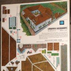 Coleccionismo Recortables: MAQUETA RECORTABLE : GRANJA DE LIMBURGO EN HOLANDA. Lote 288112748