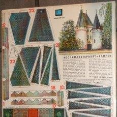 Coleccionismo Recortables: MAQUETA RECORTABLE : ANTIGUA PUERTA DE KAMPEN EN HOLANDA. Lote 288113298