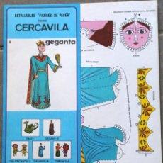 "Coleccionismo Recortables: MAQUETA RECORTABLE GIGANTA DE "" CERCAVILA "" (PASACALLE). Lote 289524668"