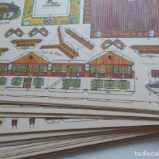 Coleccionismo Recortables: GRAN LOTE DE 75 RECORTABLES VIRGILI LUIS ESTEBAN - SERIE CHALETS / 8 MODELOS DIFERENTES. Lote 292946238