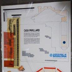 Coleccionismo Recortables: MAQUETA RECORTABLE .DE LA CASA PAVILLARD EN BADALONA (MODERNISMO). Lote 293931693