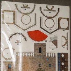 Coleccionismo Recortables: MAQUETA RECORTABLE .DE LA CASA CONSISTORIAL Y TORRE DEL RELOJ DE MAELLA (ZARAGOZA ). Lote 293932543