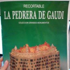 Coleccionismo Recortables: RECORTABLE LA PEDRERA DE GAUDÍ. Lote 296595368