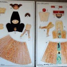 Coleccionismo Recortables: 2 MAQUETAS RECORTABLES GIGANTES DE TORELLÓ (CATALUNYA). Lote 297078088