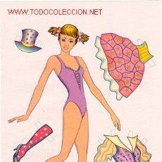 Coleccionismo Recortables: 2 HOJAS RECORTABLES CHICA DISFRACES 3. Lote 29747363