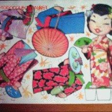 Colecionismo Recortáveis: RECORTABLE LAMINA JAPONESA SERIE TRAJES DEL MUNDO AÑO 1970 A ESTRENAR (RAZAS)*. Lote 286457558