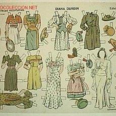 Coleccionismo Recortables: DIANA DURBIN MUÑECAS RECORTABLES Nº 3 BARCELONA : ED. TBO, S.A. Lote 16920888