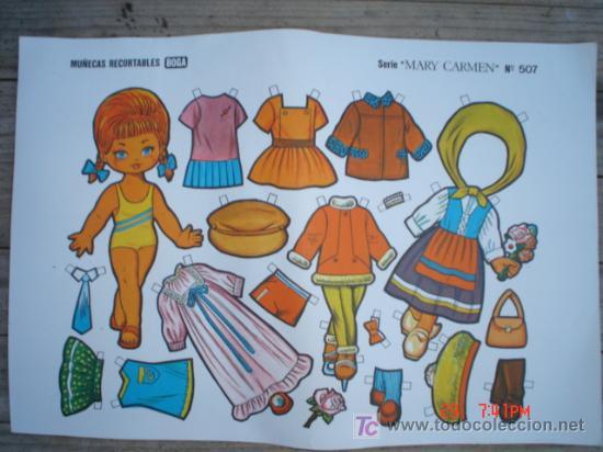 MUÑECAS RECORTABLE BOGA-----SERIE MARY CARMEN (Coleccionismo - Recortables - Muñecas)