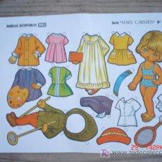 Coleccionismo Recortables: MUÑECAS RECORTABLE BOGA-----SERIE MARY CARMEN. Lote 4684625