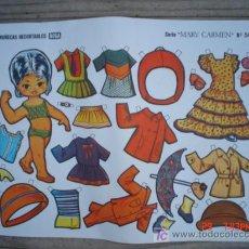 Coleccionismo Recortables: MUÑECAS RECORTABLE BOGA-----SERIE MARY CARMEN. Lote 4645875