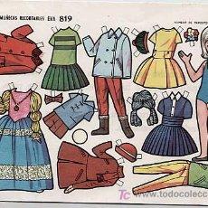 Coleccionismo Recortables: 4 LAMINAS DE MUÑECAS RECORTABLES EVA 819. AÑO 1964. Lote 86732380