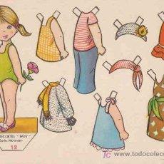Coleccionismo Recortables: RECORTABLES BABY EDITORIAL ROMA, SERIE MUÑECAS Nº12. Lote 53977897