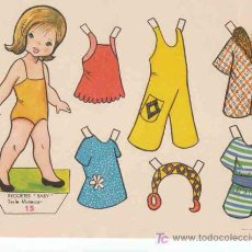Coleccionismo Recortables: RECORTABLES BABY EDITORIAL ROMA, SERIE MUÑECAS Nº15. Lote 53460176