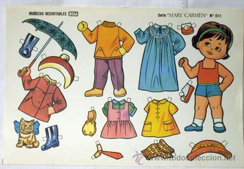Coleccionismo Recortables: Recortables Boga 10 hojas serie Mary Carmen Nº 511 - 520 años 70 32 cm x 21 cm - Foto 2 - 61471754