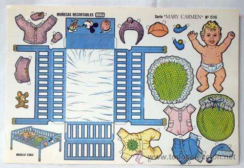 Coleccionismo Recortables: Recortables Boga 10 hojas serie Mary Carmen Nº 511 - 520 años 70 32 cm x 21 cm - Foto 5 - 61471754