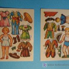 Coleccionismo Recortables: CONJUNTO 2 RECORTABLES ANTIGUOS, AÑOS 40, MEDIDAS 7 X 10 CM.. Lote 206405146
