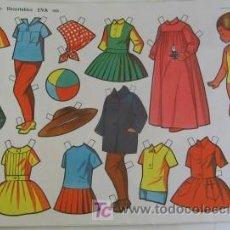 Collectionnisme Images à Découper: MUÑECA RECORTABLE DE EVA. Lote 27041088