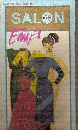 SALON EMA ( JUEGO DE MUÑECA CON MANIQUI Y VESTIDOS RECORTABLES) CHECOSLOVAQUIA, 1990 (Coleccionismo - Recortables - Muñecas)