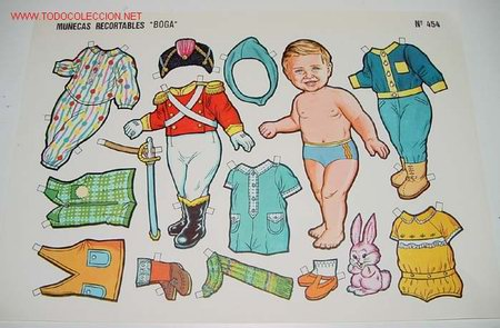 ANTIGUO RECORTABLE GRANDE DE MUÑECAS BOGA Nº 454 - MIDE 34 X 24 CMS. (Coleccionismo - Recortables - Muñecas)