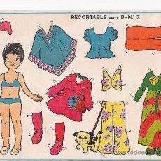 Coleccionismo Recortables: RECORTABLE MUÑECA MAVES. SERIE B. Nº 7.. Lote 9841509
