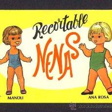 Coleccionismo Recortables: RECORTABLE MUÑECAS: NENAS NUM.7. 6 HOJAS. VESTIDOS PARA LAS 2 MUÑECAS, POR LO TANTO RECORTABLE DOBLE. Lote 9949180