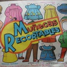 Coleccionismo Recortables: ALBUM 50 LAMINAS SURTIDAS ,MUÑECAS RECORTABLES.EDITORIAL VASCO AMERICANA.BILBAO. Lote 27484970