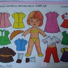 Coleccionismo Recortables: MUÑECA RECORTABLE EDIVAS LAMINA 108. AÑO 85.. Lote 11638359