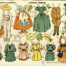 Coleccionismo Recortables: RECORTABLE DE SHIRLEY TEMPLE. NUM. 1 DE EDICIONES TBO. AÑOS 40. Lote 54193723