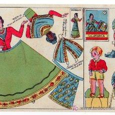 Coleccionismo Recortables: RECORTABLE DE MUÑECA VESTIDO TIPICO DE SALAMANCA. Lote 14185537