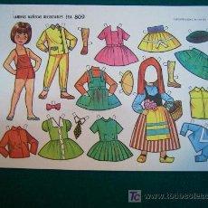 Coleccionismo Recortables: RECORTABLES TIPO LILIPUT DE MUÑECAS EVA 1962 NUM 809 MARY MERCHE. Lote 14215968