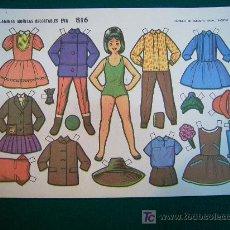 Coleccionismo Recortables: RECORTABLES TIPO LILIPUT DE MUÑECAS EVA 1964 NUM 816 ISABELITA. Lote 14216210