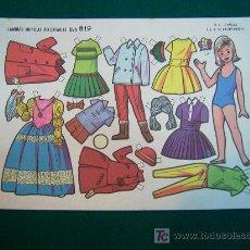 Coleccionismo Recortables: RECORTABLES TIPO LILIPUT DE MUÑECAS EVA 1964 NUM 819 CARMENCHU. Lote 14216279