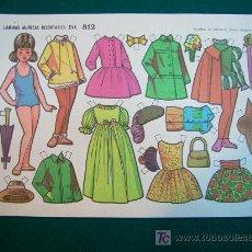 Coleccionismo Recortables: RECORTABLES TIPO LILIPUT DE MUÑECAS EVA 1964 NUM 812 CHUCHITA. Lote 14216306