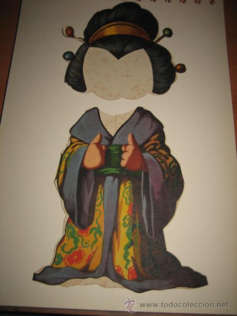 Coleccionismo Recortables: TRAJE DE JAPONESA DE TITINA - Foto 2 - 16354945